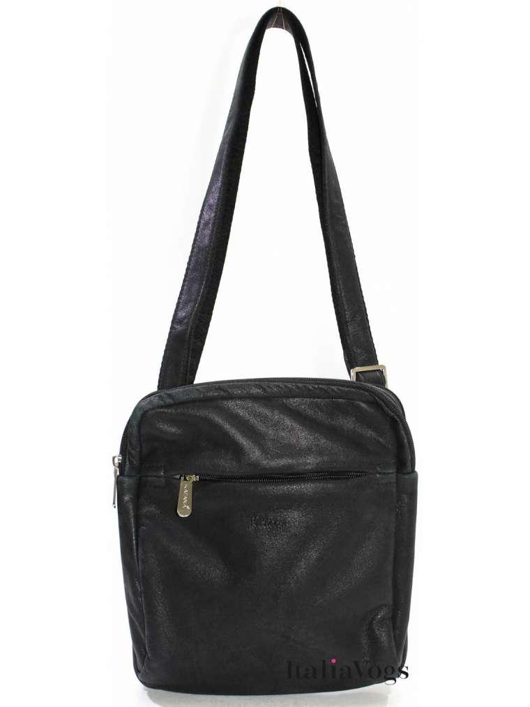 Мужская сумка через плечо из НАТУРАЛЬНОЙ КОЖИ KATANA K21161