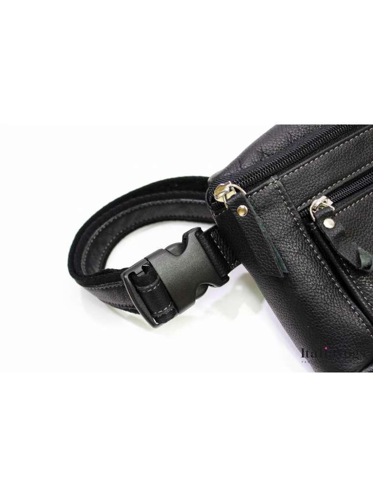 Мужская поясная сумка из НАТУРАЛЬНОЙ КОЖИ KATANA K69331