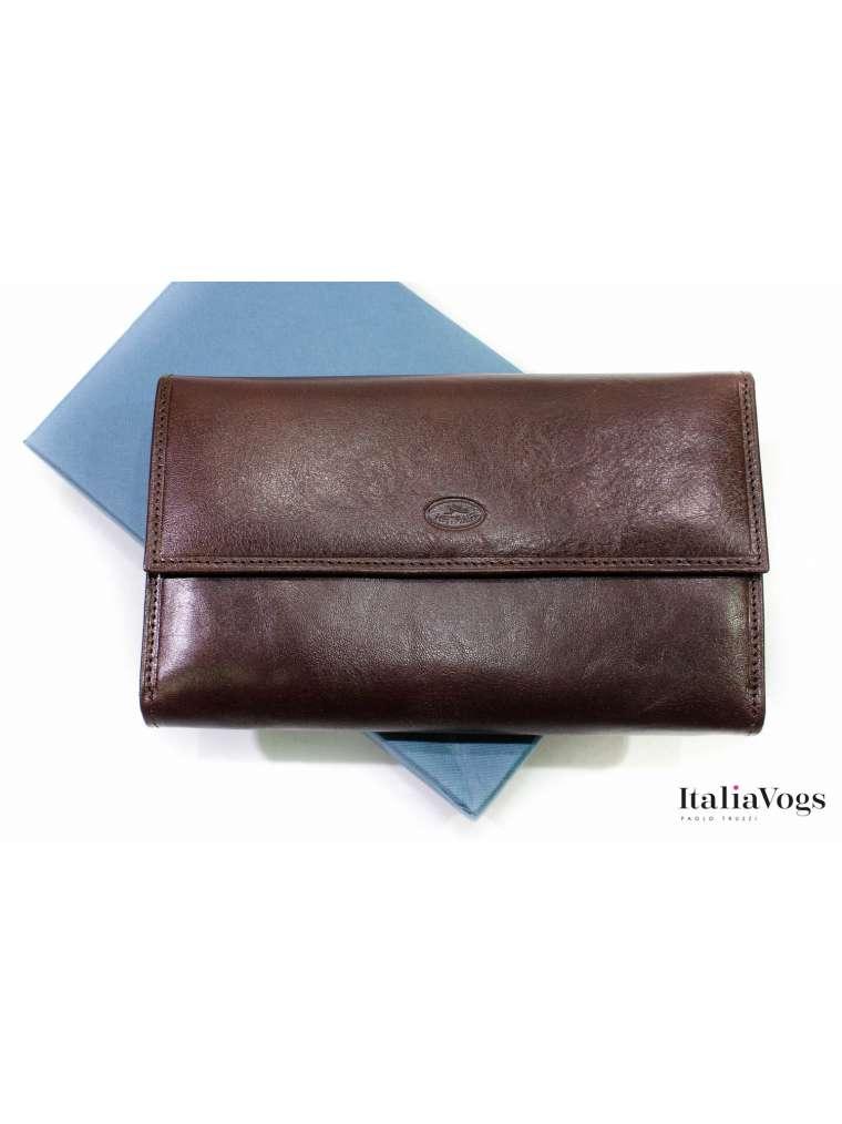 Глянцевый кожаный кошелек KATANA K353050
