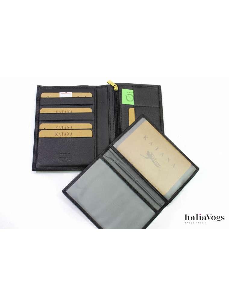 Кожаное портмоне для автодокументов KATANA K753015