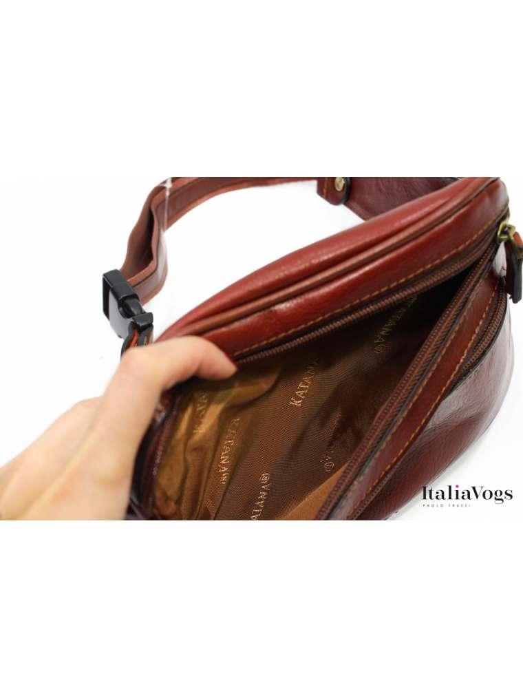 Мужская поясная сумка из НАТУРАЛЬНОЙ КОЖИ KATANA K8200B