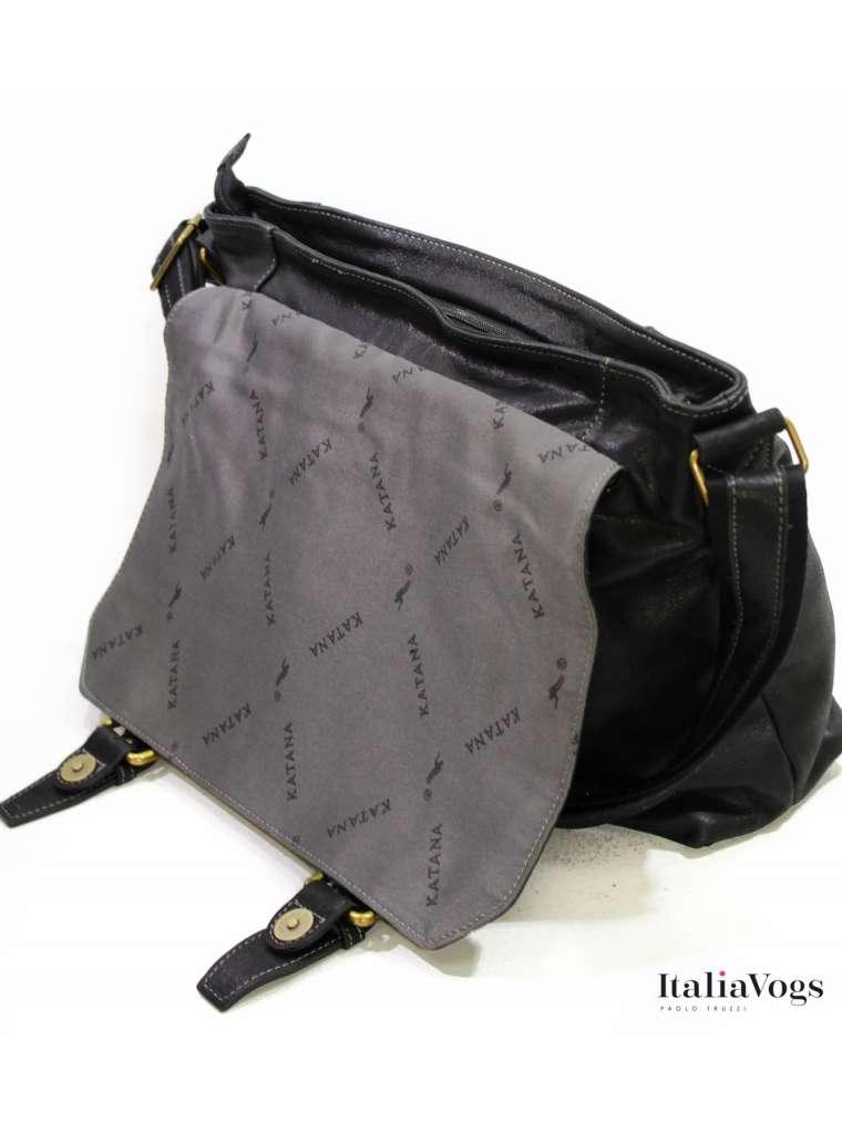 Мужская сумка на плечо из НАТУРАЛЬНОЙ КОЖИ KATANA K21903