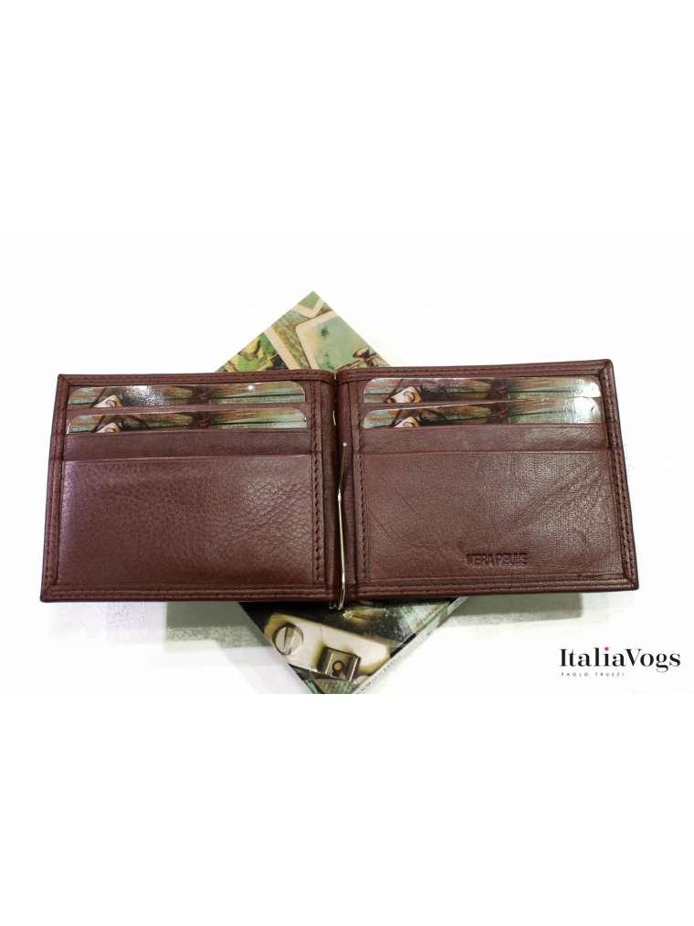 Зажим для денег из НАТУРАЛЬНОЙ КОЖИ BSA815