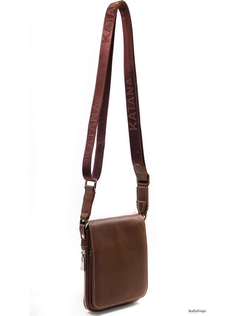 Мужская сумка через плечо из НАТУРАЛЬНОЙ КОЖИ KATANA K89102