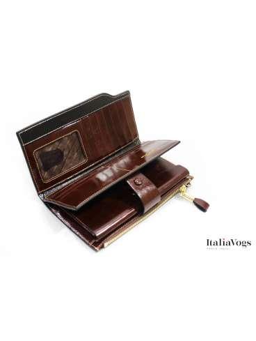 Функциональный женский кошелек из НАТУРАЛЬНОЙ КОЖИ D8653