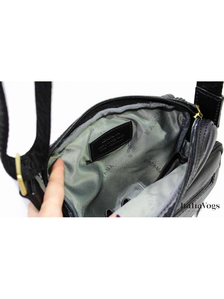 Мужская сумка через плечо из НАТУРАЛЬНОЙ КОЖИ KATANA K36102