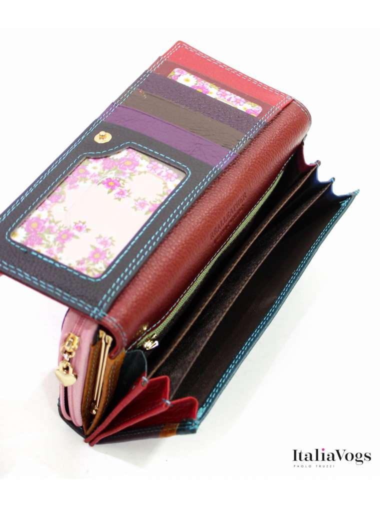 Женский кошелек из НАТУРАЛЬНОЙ КОЖИ VB90099 (двухцветные)