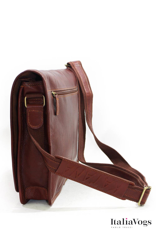 Мужская сумка на плечо из НАТУРАЛЬНОЙ КОЖИ KATANA K39106