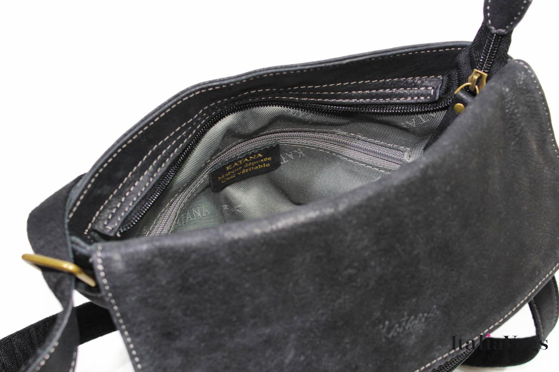 Мужская сумка через плечо из НАТУРАЛЬНОЙ КОЖИ KATANA K21911