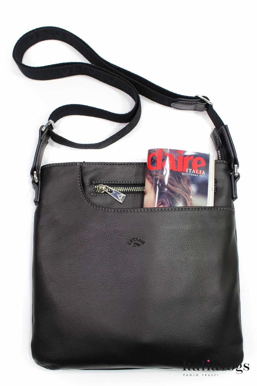 Мужская сумка через плечо из НАТУРАЛЬНОЙ КОЖИ KATANA K89107