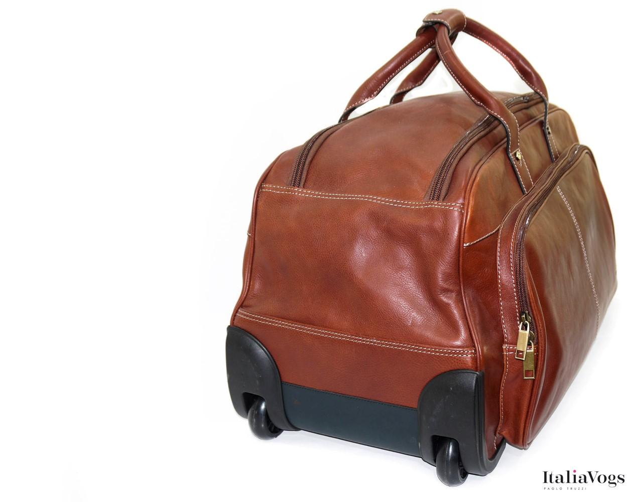 Дорожная сумка на колесах из НАТУРАЛЬНОЙ КОЖИ KATANA K33159