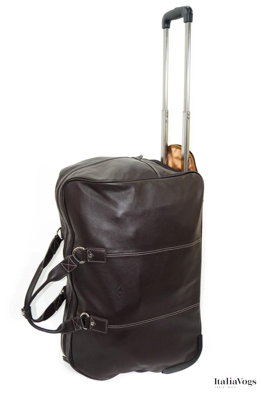 Дорожная сумка на колесах из НАТУРАЛЬНОЙ КОЖИ KATANA K69259